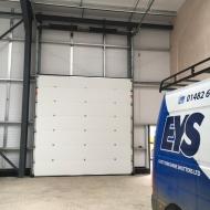 Sectional door inside